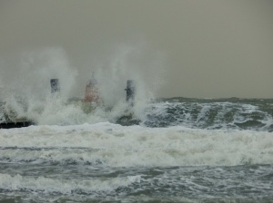 Speeding in hurricane-like conditions